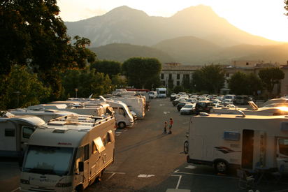 Motorhome Aire in the Verdon Valley France