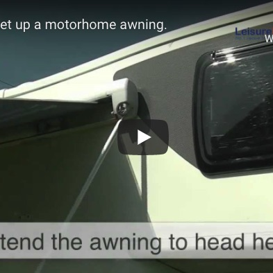 How to setup a motorhome awning
