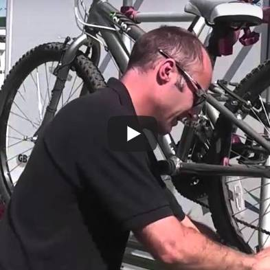 How to use a motorhome bike rack
