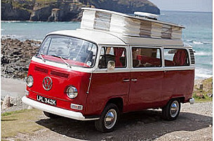 VW Bay front Campervan  for hire in  Truro