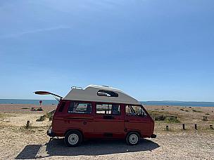 Tiki Red Volkswagen T25 Campervan  for hire in  portsmouth