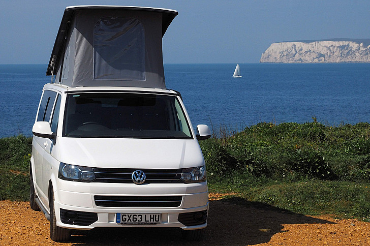 VW T5  LWB Camper called Isla hire Ryde