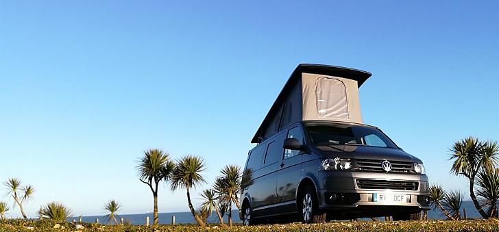 VW T5  LWB Camper called Dylan hire Ryde